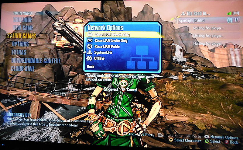 Borderlands 2 Network Options