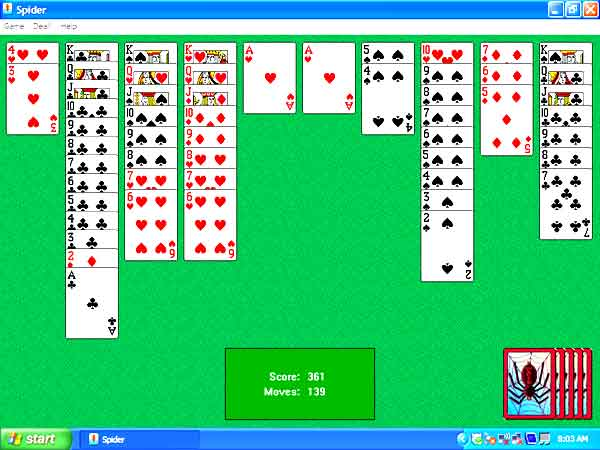 spider solitaire save game file windows 7