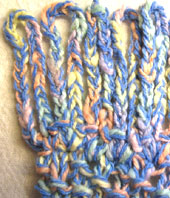 Chain Stitch Continuous Fringe
